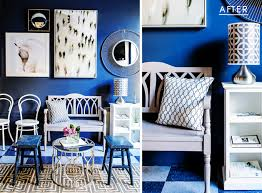 deep indigo blue does wonders as a paint color on these walls