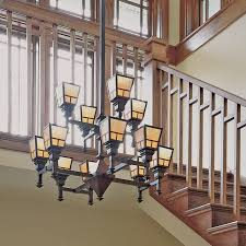 two tier wentworth lights two story foyer brass light gallery