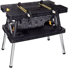 keter portable work table keter folding work table 2 5ft x 1 8ft x 2 8ft in black red 59 99