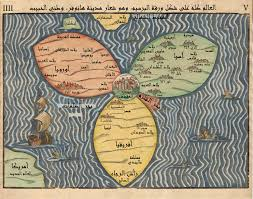 1581 bunting clover leaf map a stylised map showing three