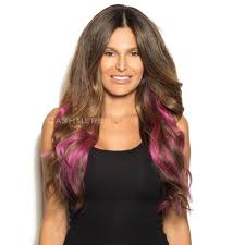 purple hair extensions 18 peek a boo purple clip in hair extensions