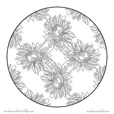sunflower mandala coloring pages free printable flower coloring