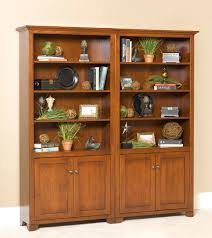 Wide Bookcase With Doors Cherry Valley Bookcase Bottom Doors 36inch Wide Buckeye Amish