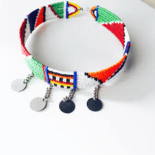 beaded choker necklace images Maasai choker necklace exotic body beads png