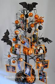 halloween tree with ornaments blue ribbon kitchen halloween photo family tree