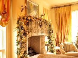 Christmas Decorations For Fireplace Mantel Christmas Decorated Fireplace Images Cheerful Lights Decoration