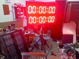 membuat jam digital led besar pcb jogja jual score board papan skor scoreboard timer basket