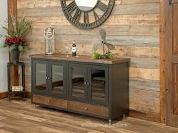 refined rustic sideboard with wine rack bungalow craftsman
