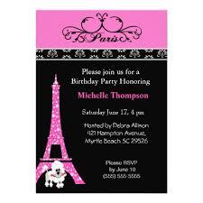 personalized pink poodle invitations custominvitations4u com