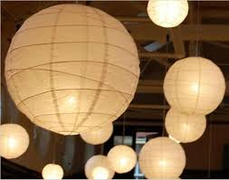 Christmas Decorations With White Paper by 2015 New White Chinese Paper Lanterns With Led Lights Beautiful