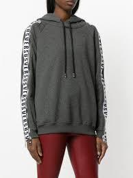 versus panelled sleeve zip hoodie 413 buy aw17 online fast
