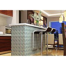 Mosaic Tile For Backsplash by Blue Ice Glass Tile Mosaic Sheets Beige Crackle Glass