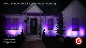 Halloween Spot Lights by Projection Fire And Ice Purple Orange Youtube