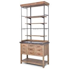 callie french country pine iron zinc display case buffet cabinet
