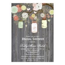 Mason Jar Bridal Shower Invitations Custom Wedding Bridal Shower Invitation Cards U0026 Postcards Com