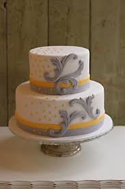 chic yellow and grey baby shower cake the couture cakery
