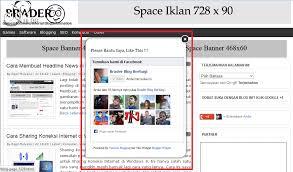 tutorial cara membuat iklan di facebook cara memasang widget like box facebook melayang di blog catatan it