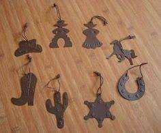 6 cowboy western boot saddle wine charms mini tree