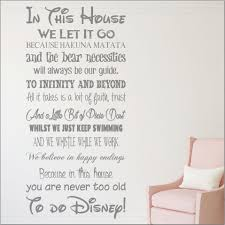 Dining Room Wall Quotes We Do Disney House Rules Vinyl Wall Art Sticker Quote Kids