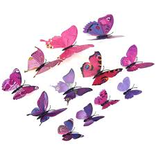 home decor 3d stickers 12pcs pvc 3d butterfly wall decor cute butterflies wall stickers