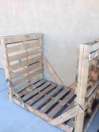 furniture rustic firewood rack with log wood material and green