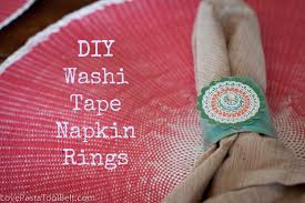 diy washi tape napkin rings love pasta and a tool belt