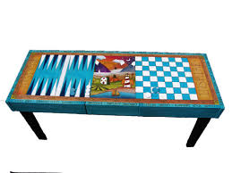 Mosaic Table L Custom Made Table Checkerboard Table By Woodwithheart