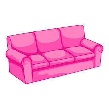 Pink Sofa Bed Pink Sofa Isolated Illustration Stock Vector Image 32608240