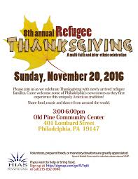 refugee thanksgiving 2016 hias pennsylvania