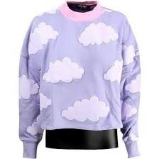 cloud sweater sweater lazy oaf cloud sweater clouds sweatshirt