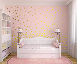 gold polka dot wall decals the glittering decor home design image of adorable gold polka dot wall decals