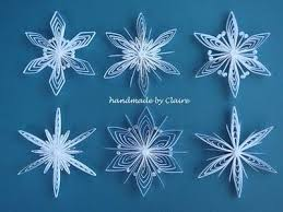 s paper craft paper quilling snowflakes quilling