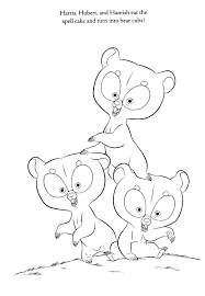 brave coloring pages harris hubert hamish bear coloringstar