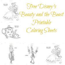 free disney u0027s beauty beast printable coloring sheets