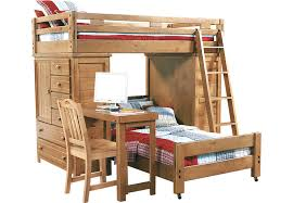 creekside taffy twin twin student loft bed with desk and chests