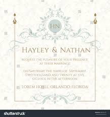 Wedding Invitations Hotel Accommodation Cards Graphic Design Page Wedding Invitation Decorative Stock Vector