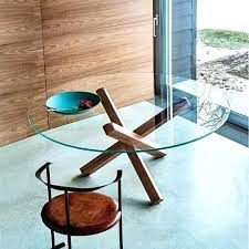 table de cuisine ronde en verre table de cuisine ronde en verre pied central table cuisine ronde