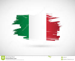 italian design italian ink brush flag illustration design royalty free stock