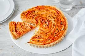 sweet potato thyme and parmesan flower tart tesco real food