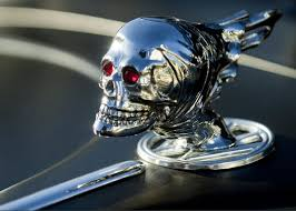 skull rat rod ornament greeting card for sale by reger