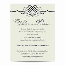 dinner invitation simple elegance welcome dinner invitation