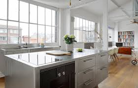 stainless kitchen island kitchen of the week an all stainless design in a paris loft