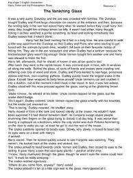 harry potter reading comprehension sample by krisgreg30