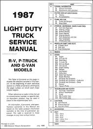 1987 chevy truck repair shop manual original pickup blazer