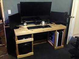 Diy Pallet Wood Distressed Table Computer Desk 101 Pallets by Reclaimed Pallet Console Table 101 Pallets