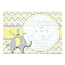 yellow and gray baby shower yellow baby shower invitations announcements zazzle