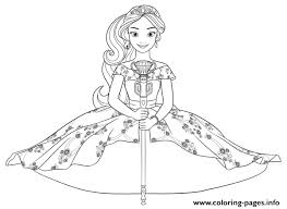 elena avalor play music francisco disney coloring pages