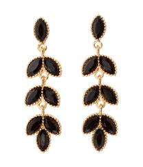 hm earrings h m earrings in black lyst