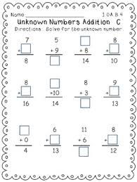 core operations and algebraic thinking math worksheets for first grade