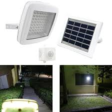 solar powered led flood lights solar powered outdoor security light motion detection 100 lumen